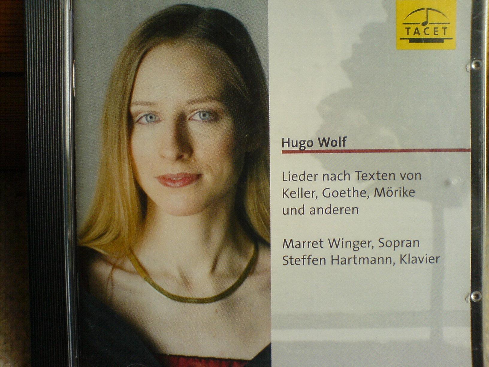 Meine Debut-CD bei TACET mit Liedern von Hugo Wolf entstand in Andenken an Elisabeth Schwarzkopf, die sich während ihrer langen Gesangslaufbahn unermüdlich für den Komponisten eingesetzt hat.